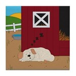 Farm Dog Tile Coaster