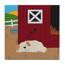 Farm Dog Tile Coaster