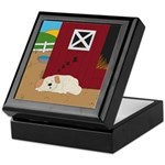 Farm Dog Keepsake Box