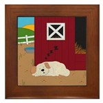 Farm Dog Framed Tile