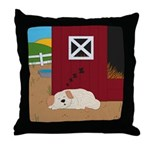 Farm Dog Throw Pillow