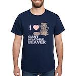 I (HEART) GIANT INFLATABLE BEAVER Dark T-Shirt