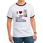 I (HEART) GIANT INFLATABLE BEAVER Ringer T
