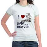 I (HEART) GIANT INFLATABLE BEAVER Jr. Ringer T-Shi