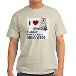 I (HEART) GIANT INFLATABLE BEAVER Light T-Shirt
