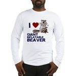 I (HEART) GIANT INFLATABLE BEAVER Long Sleeve T-Sh