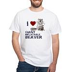 I (HEART) GIANT INFLATABLE BEAVER White T-Shirt