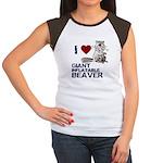 I (HEART) GIANT INFLATABLE BEAVER Women's Cap Slee