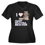 I (HEART) GIANT INFLATABLE BEAVER Women's Plus Siz