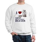I (HEART) GIANT INFLATABLE BEAVER Sweatshirt