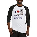 I (HEART) GIANT INFLATABLE BEAVER Baseball Jersey