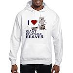 I (HEART) GIANT INFLATABLE BEAVER Hooded Sweatshir