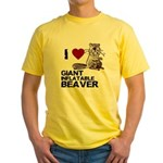 I (HEART) GIANT INFLATABLE BEAVER Yellow T-Shirt