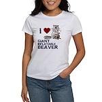 I (HEART) GIANT INFLATABLE BEAVER Women's T-Shirt