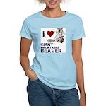 I (HEART) GIANT INFLATABLE BEAVER Women's Light T-