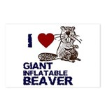 I (HEART) GIANT INFLATABLE BEAVER Postcards (Packa