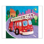 Fire Truck Small Poster