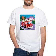 Fire Truck White T-Shirt
