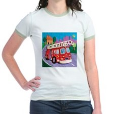 Fire Truck Jr. Ringer T-Shirt
