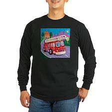 Fire Truck Long Sleeve Dark T-Shirt