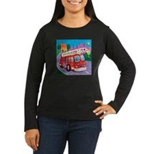 Fire Truck Women's Long Sleeve Dark T-Shirt