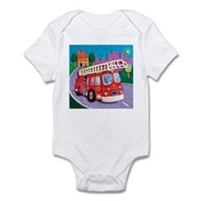Fire Truck Infant Bodysuit