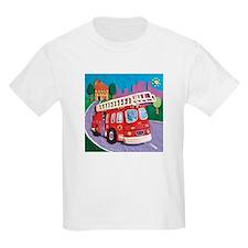 Fire Truck Kids Light T-Shirt