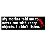 Sharp Objects Bumper Car Sticker