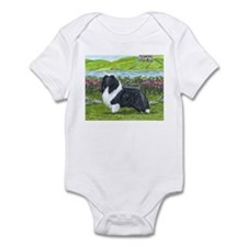 Bi Black Sheltie Infant Bodysuit