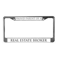 Proud Parent: Real Estate Bro License Plate Frame