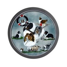 The Versatile Sheltie Wall Clock