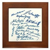 LDS Prophets Autographs Framed Tile