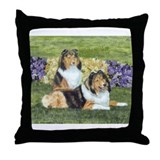 Sheltie Pair Throw Pillow
