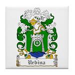 Urbina Coat of Arms Tile Coaster