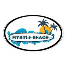 Myrtle Beach - Surf Design Decal