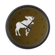 Moose Illustrations Large Wall Clock