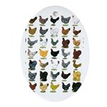 49 Hen Breeds Ornament (Oval)