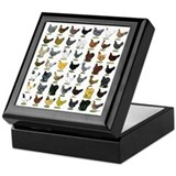 49 Hen Breeds Keepsake Box
