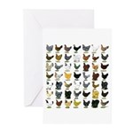 49 Hen Breeds Greeting Cards (Pk of 10)