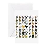49 Hen Breeds Greeting Card