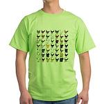 49 Hen Breeds Green T-Shirt