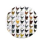"""49 Hen Breeds 3.5"""" Button (100 pack)"""