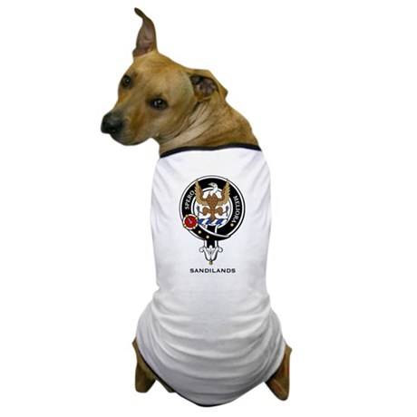 Sandilands Clan Crest / Badge Dog T-Shirt