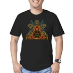 SOLOMON'S MAGIC PENTACLES Men's Fitted T-Shirt (da