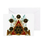 SOLOMON'S MAGIC PENTACLES Greeting Card