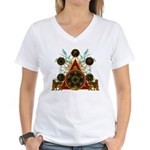 SOLOMON'S MAGIC PENTACLES Women's V-Neck T-Shirt