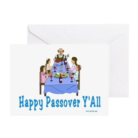 Happy Passover Y'all Greeting Cards (Pk of 20)