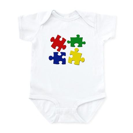Puzzle Pieces Infant Bodysuit