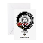 Pitcairn Clan Crest Badge Greeting Cards (Package