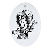 Mad Hatter Ornament (Oval)